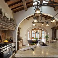 spanish gold marble countertops kitchen mediterranean with stone
