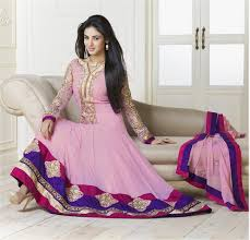 pink colour combination dresses sonal chauhan suits