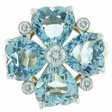 aquamarine diamond ring cartier aquamarine diamond ring polyvore