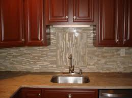 stacked stone tile backsplash great home decor contemporary
