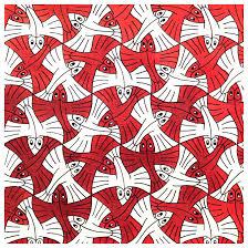 flying fish escher tessellations inspiring bridal shower ideas
