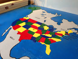 us map w alaska u s map puzzle with alaska and hawaii to scale and in location