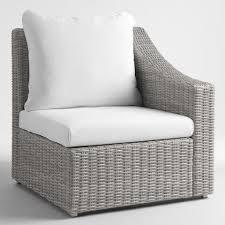 Cost Plus Outdoor Furniture Gray Veracruz Outdoor Sectional Sofa World Market