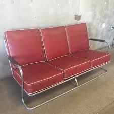 vintage 1950 u0027s red u0026 chrome sofa u2013 urbanamericana