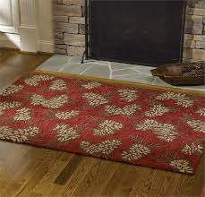 Pine Cone Area Rugs Cabin Rugs Pinecone Hooked Rug The Cabin Shack