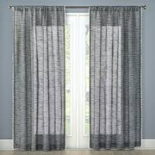 Sheer Gray Curtains Stitched Edge Sheer Window Curtain Panel Gray 60 X84 Nate