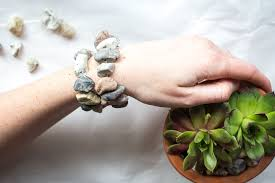 diy bracelet stones images Diy faux stone jewelry using easy sculpt modeling clay resin crafts jpg