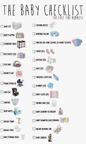 newborn baby necessities ohsofickle my baby checklist