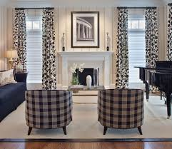 Black Check Curtains Pretty Buffalo Check Curtains In Living Room Contemporary With