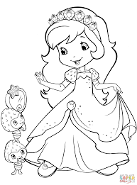 strawberry shortcake and berrykins coloring page free printable
