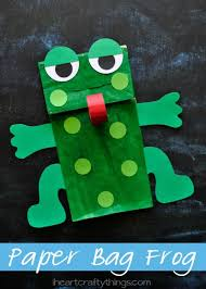 paper bag frog puppet with free pattern i crafty things