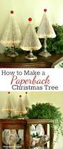 How To Decorate A Christmas Tree How To Make Folded Paperback Book Christmas Trees A Tutorial