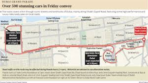 Emirates Route Map by 500 Stunning Cars At Dubai Grand Parade On Friday Gulfnews Com