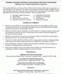 Auto Mechanic Resume Samples by Peachy Ideas Automotive Technician Resume 4 Automotive Mechanic