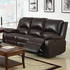 oxford sofa oxford transitional rustic brown leatherette recliner sofa
