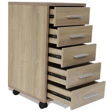 bloc tiroir pour bureau caisson 5 tiroirs colori chene achat vente caisson de bureau