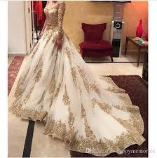indische brautkleider großhandel luxuxgold wulstige indische hochzeitskleider 2017 lange