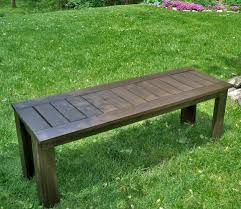 Wooden Garden Bench Plans by Ana White Build A Simple Outdoor Bench Diy Projects