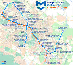 Metro Map Silver Line by Sofia Metro Map