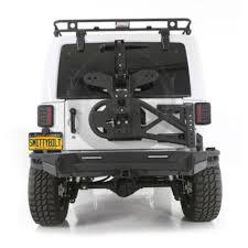 jeep rear bumper with tire carrier smittybilt 76614 wrangler jk rear bumper src gen2 2007 2018 jeep