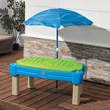 step 2 water table with umbrella cascading cove with umbrella step2