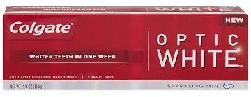 Cost Of Teeth Whitening Amazon Com Colgate Optic White Toothpaste 4 Ounce Pack Of 2