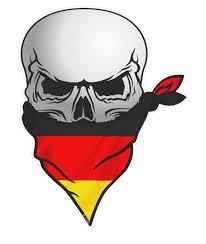 German Flag Shirt Gothic Biker Pirate Skull With Face Bandana U0026 Germany German Flag