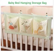 Child Crib Bed 100 Cotton Crib Organizer Baby Cot Bed Hanging Storage Bag