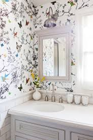 wallpaper designs for bathroom home tour a youthful whimsical l a home easy peasy wallpaper