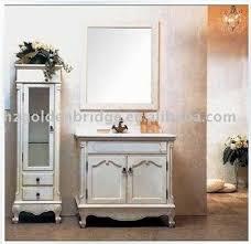 Classic Bathroom Furniture New Style Floor Mounted Classic Wooden Bathroom Furniture White