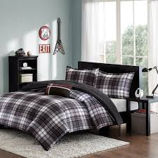 Twin Plaid Comforter Boys Twin Size Comforter Set 4 Piece Plaid Comforter Contemporary