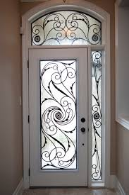 Exterior Glass Door Inserts Classic Style Wrought Iron Door Inserts Entry Toronto By