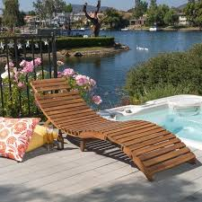 Christopher Knight Patio Furniture Reviews Lahaina Outdoor Acacia Wood Chaise Lounge By Christopher Knight