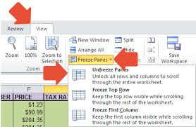 excel lock rows and columns how does it work