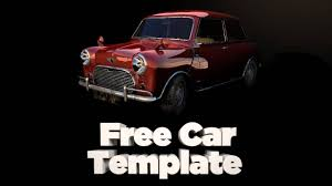free mini car cinema 4d template model download below youtube