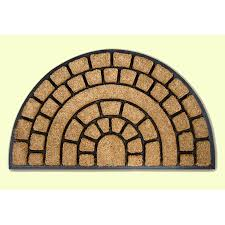 Coco Doormat Coco Paved Design Coir And Rubber Semi Circle Doormat 38hm Kukoon