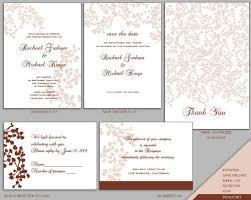 Diy Wedding Invitations Templates Designs Simple Wedding Invitation Template A5 With Brown Speach
