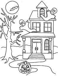 halloween haunted house coloring pages halloween haunted house