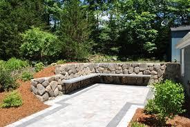 Backyard Stone Patio Ideas by Download Patio Wall Ideas Garden Design