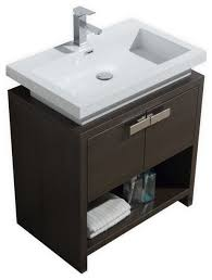 levi modern bathroom vanity with cubby 30 contemporary