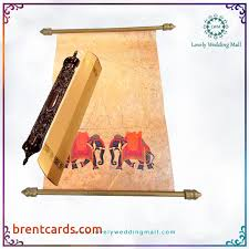 indian wedding invitations scrolls scroll indian wedding cards lovely wedding mall introduces an