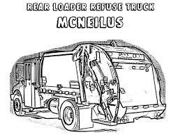 rear loader garbage truck coloring pages download u0026 print online