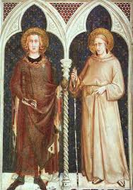 simone martini artist st luigi the ixth king of france and st ludovico angevine by