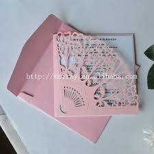 fan shaped wedding programs pink wedding cards fan shaped invitation cards laser cut