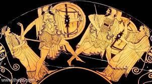 Aphrodite Vase Duel Of Paris U0026 Menelaus Ancient Greek Vase Painting