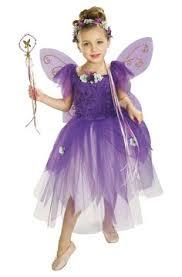 Fairy Halloween Costume Kids Glittered Lavender Blue Flower Fairy Costume Childrens Sizes