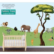 giant jungle wall stickers the giant jungle scene stickers with tree and animal sticker for kids wall