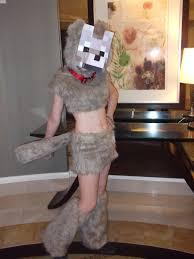 Minecraft Skeleton Halloween Costume by Minecraft Tamed Wolf Cosplay By Charmandersflame On Deviantart