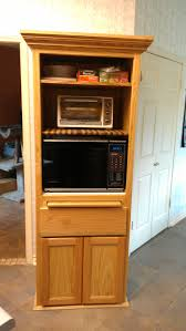 Microwave In Kitchen Cabinet by Oak Microwave Cabinet Bar Cabinet