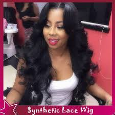 no part weave hairstyles new design sexy body wave synthetic lace front wig free middle